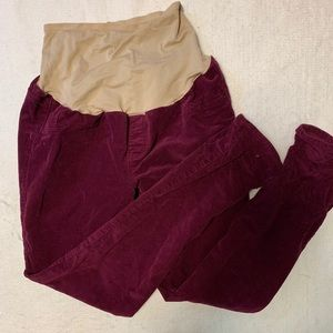 Maternity corduroy pants